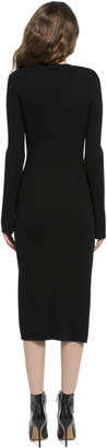 Alice + Olivia SELENA LONG SLEEVE SIDE SLIT SWEATER DRESS