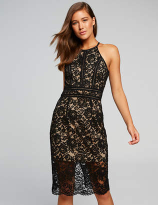Dotti Liz Halter Lace Bodycon Dress