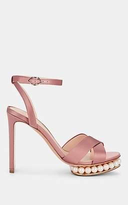 Nicholas Kirkwood Women's Casati Satin Platform Sandals - Dusty Pink