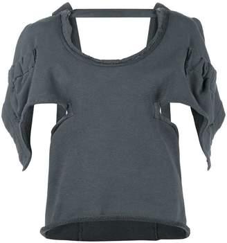 J.W.Anderson oversized open back asymmetric sleeve top