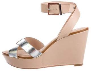 Ted Baker Metallic Leather Wedge Sandals
