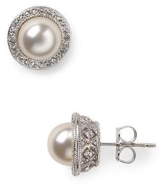 Nadri Simulated Pearl Stud Earrings