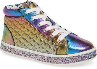 c69d2d92905 Steve Madden Glittery High Top Sneaker