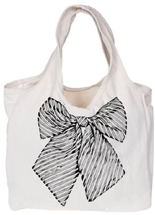 Lauren Moshi Bow Canvas Tote - !