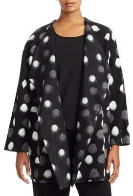 Caroline Rose Polka Dot Drape Jacket
