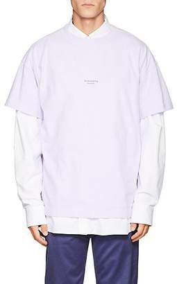 Acne Studios Men's Logo Cotton T-Shirt - Lilac