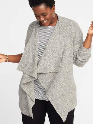 Old Navy Textured Drape-Front Plus-Size Sweater