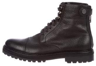 Belstaff Leather Combat Boots