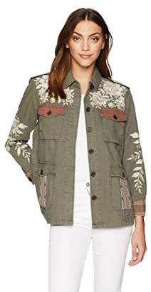 3J Workshop by Johnny Was Women's Surya Military Jacket