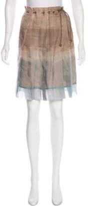 Brunello Cucinelli Silk Knee-Length Skirt