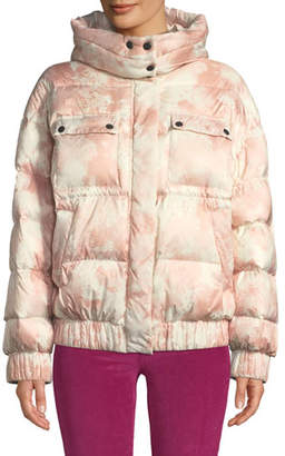 ATM Anthony Thomas Melillo Tie-Dye Hooded Down Puffer Jacket