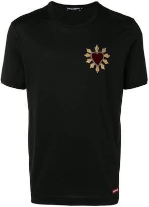 Dolce & Gabbana heart embroidered T-shirt