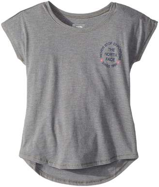 The North Face Kids Tri-Blend Scoop Neck Tee Girl's T Shirt
