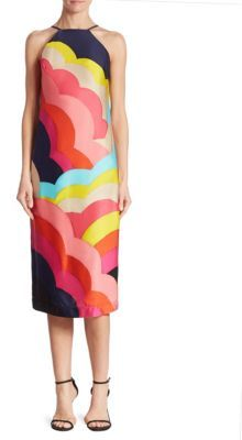 Trina Turk Vina Rainbow-Print Halter Dress $298 thestylecure.com