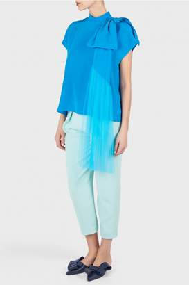 DELPOZO Silk Blouse with Bow
