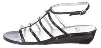 Stuart Weitzman Crystal Patent Sandals