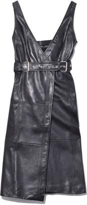 Proenza Schouler Sleeveless Belted Dress in Black
