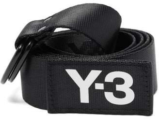 Y-3 Y 3 Logo Print Technical Web Belt - Mens - Black