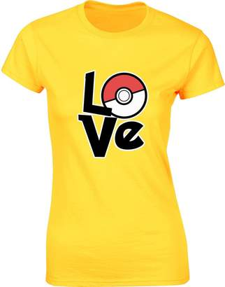 Pokemon Brand88 Love , Ladies Printed T-Shirt