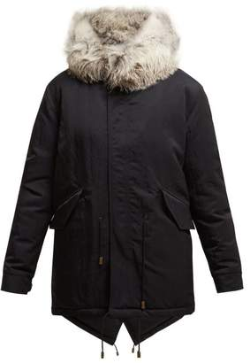 Mr & Mrs Italy Fox Fur Hooded Parka - Womens - Black Blue