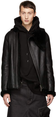 D.gnak By Kang.d Black Shearling Jacket