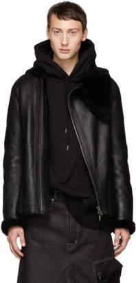 D.gnak By Kang.d Black Shearling Jacket