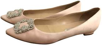 Manolo Blahnik Cloth Ballet Flats