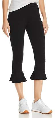Comune Michelle by Dixie Cropped Ruffled Sweatpants