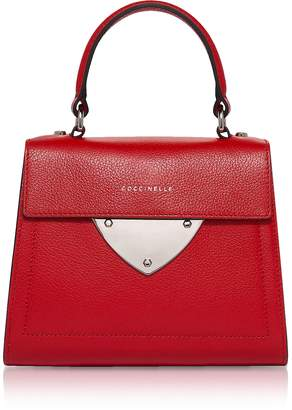Coccinelle B14 Mini Tumbled Leather Satchel Bag