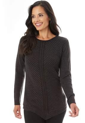 Apt. 9 Women's Mitered Crewneck Sweater