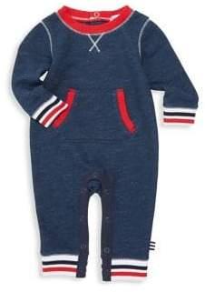 Splendid (スプレンディッド) - Splendid Splendid Baby Boy's Stripe Rib-Knit Trim Coverall - True Navy - Size 0-3 Months