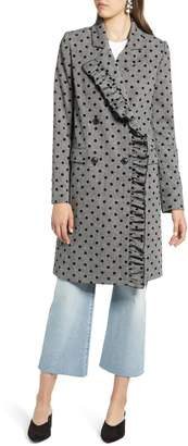 Halogen Flocked Dot Coat