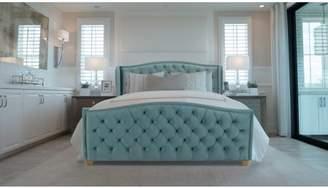 Jennifer Taylor Marcella Upholstered Bed, King, Arctic Blue