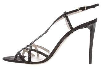 Giorgio Armani Embellished Slingback Sandals