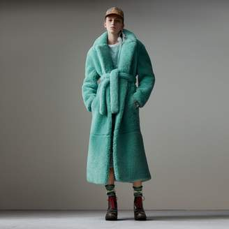 Burberry Shearling Oversized Coat