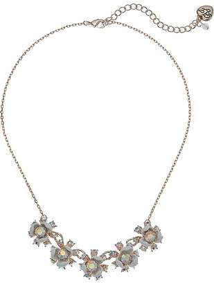 Betsey Johnson White Flower Frontal Necklace Necklace