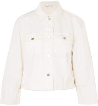 Elizabeth and James Branson Cropped Denim Jacket - White