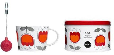 Sagaform 3-pc. Tea Tea Set, Red Tulip