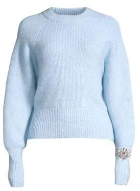 Sandro Knautie Embellished Wool-Blend Sweater