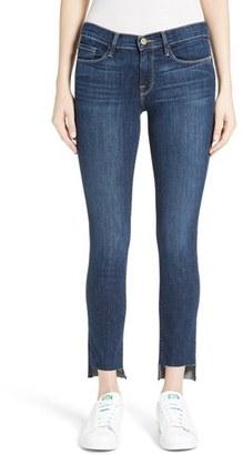 Women's Frame Le Skinny De Jeanne Step Hem Jeans $235 thestylecure.com