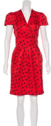 Karen Walker Printed Knee-Length Dress