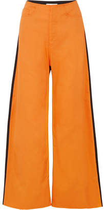Marques Almeida Marques' Almeida - Two-tone Drill Boyfriend Pants - Orange