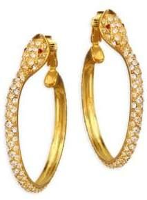 Pave Snake Hoop Earrings