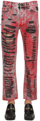 Gucci 22cm Destroyed & Over Dyed Denim Jeans