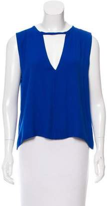 A.L.C. Sleeveless Cutout-Accented Top