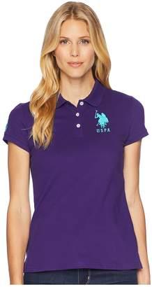 U.S. Polo Assn. USPA Solid Polo Women's Short Sleeve Knit