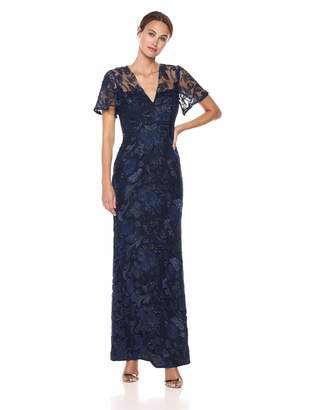 Carmen Marc Valvo Women's Sequin threadwork Gown