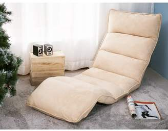 Merax Foldable Floor Chair Relaxing Lazy Sofa Bed Seat Couch Lounger,Beige