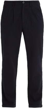 Barena VENEZIA Pleated-front straight-leg gingham trousers