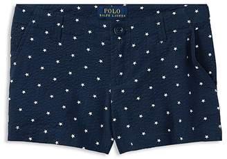 Polo Ralph Lauren Girls' Seersucker Star-Print Shorts - Big Kid